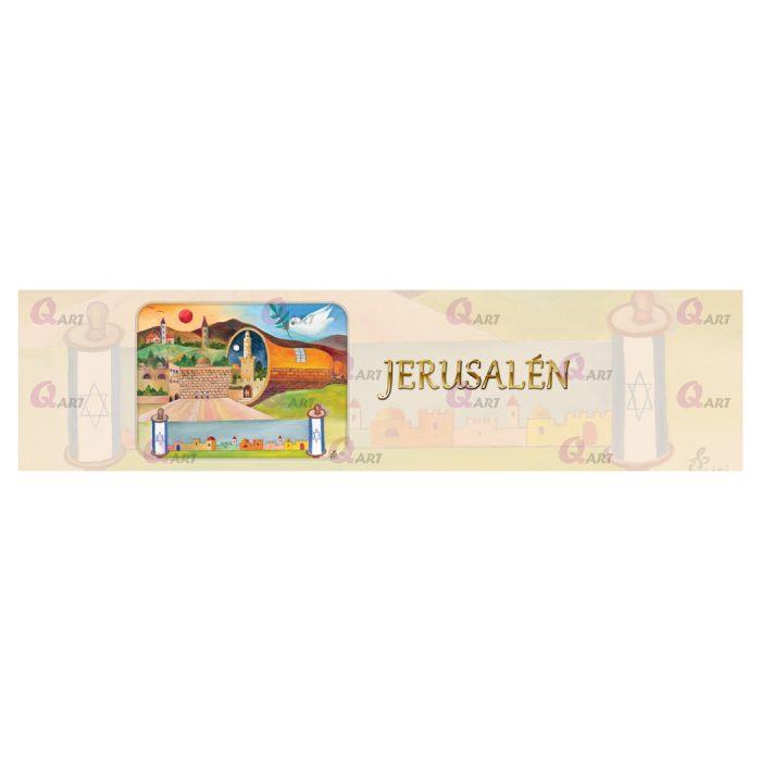 ראנר-פעמון-והכותל-תמונה-בצד-שמאל-כיתוב-Jerusalén-רקע-מגילה-659