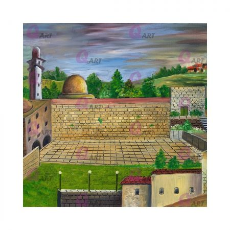 582.1 - Coster Jerusalem and the Western Wall first example
